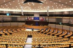 Una vista del interior del Salón de Plenos del Parlamento Europeo.