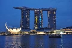 El Gran Hotel Marina Bay Sand de Singapur.