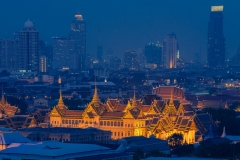 Palacio Real Bangkok. Vista nocturna.