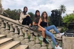 Paula, Marta y Cristina, en su vista al Parque de la Ciutadella de Barcelona