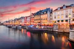 Dinamarca, Copenhague canal Nyhavn
