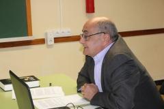 Ricardo Montés en un momento de su conferencia en el Colegio la Milagrosa.