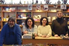 Los librer@s de la Libreria Estafeta de Pamplona.