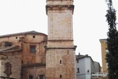 """La Torre Campanario, con sus 72 metros de altura, de los Cimientos a la Veleta. Fotografía tomada desde """"El Ravalet""""."""
