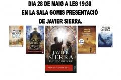Cartel de la Conferencia de Javier Sierra en Ontinyent del 28-5-19