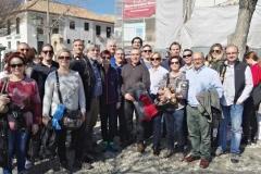 Parte de la expedicion a Granada desde el mirador de San Nicolas