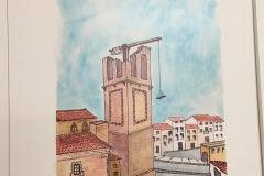 Ilustracion de la Torre, a a medio construir