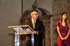 Ricardo Montés en su discurso  en la Academia.