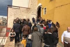 "La Ruta de ""El Guardián del Linaje"" ante el portal de San Roc"