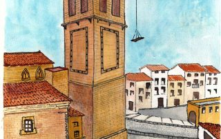 El Guardián del Linaje, construcción de la terraza de las Campanas.